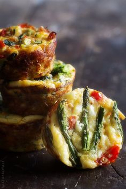 Quichelettes with Sausage, Peppers and Zucchini - (Free Recipe below)