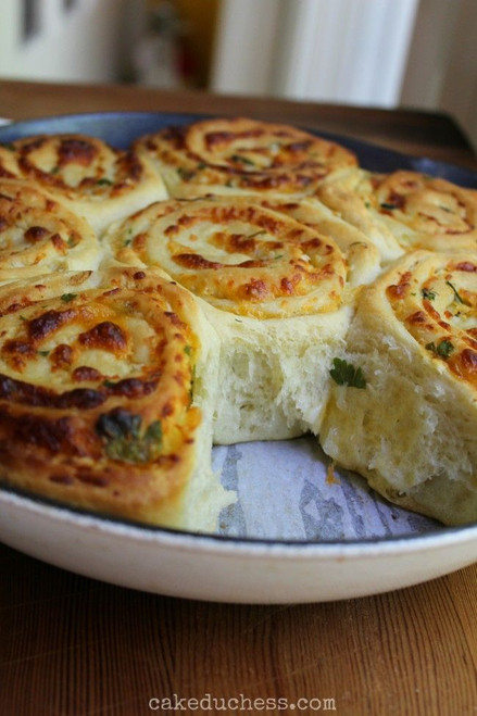 Cheddar Swirl Breakfast Rolls - (Free Recipe below)