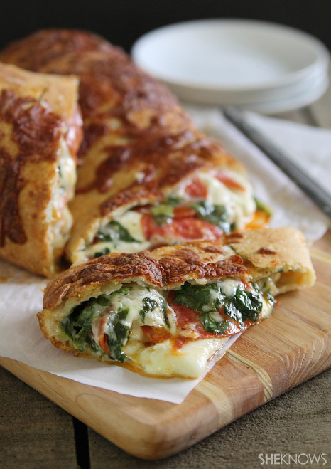 Spinach, Cheese and Pepperoni Stuffed Bread - (Free Recipe below)