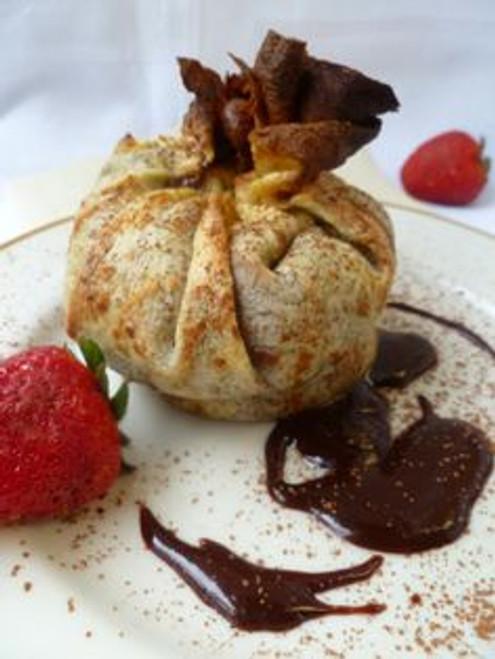Beggar's Purse with Soft Chocolate Cake - (Free Recipe below)