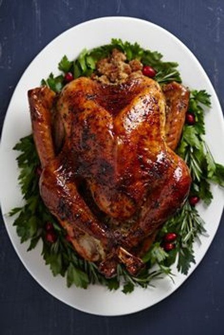 Turkey with Brown Sugar Glaze - (Free Recipe below)
