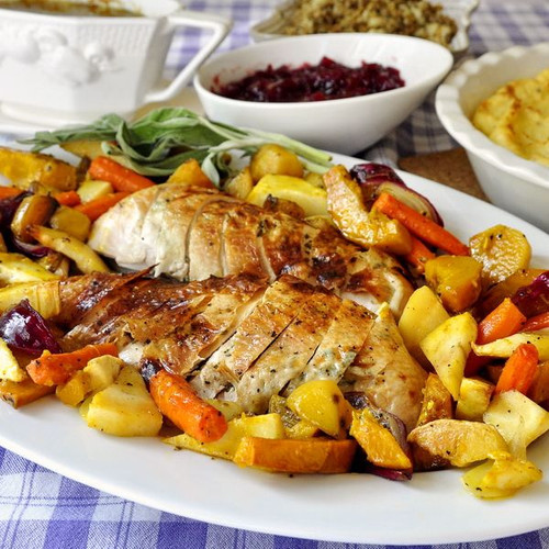 Roasted Autumn Vegetables with Maple Glaze - (Free Recipe below)