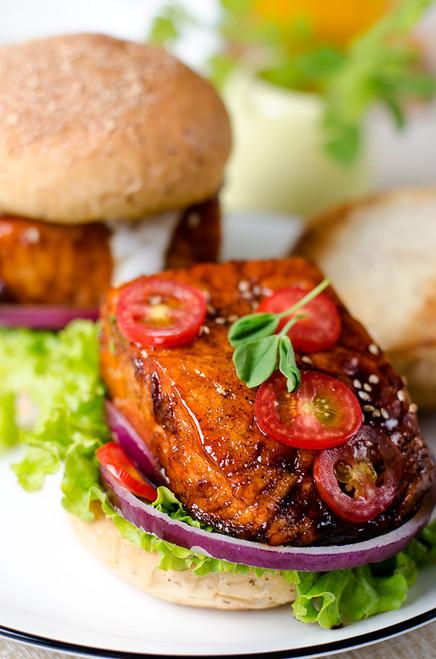 Teriyaki Salmon Sandwich - (Free Recipe below)