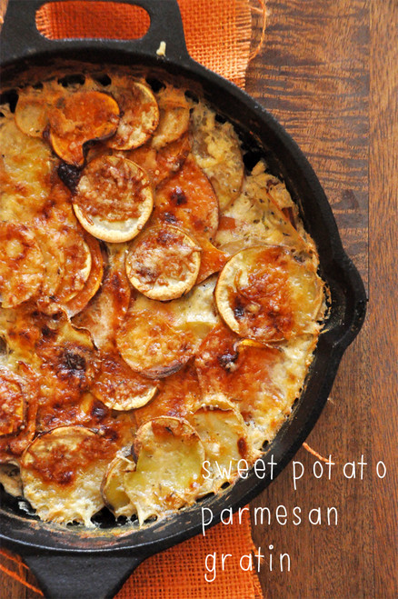 Sweet Potato Parmesan Gratin - (Free Recipe below)