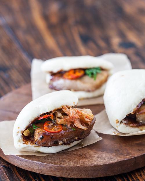 Korean Pork Belly Sandwich - (Free Recipe below)