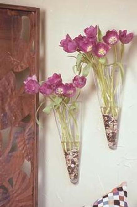 English Manor Glass Wall Cone Vase