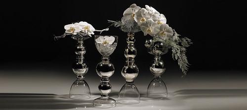Makita Funky Reversible Glass Vases - Set of 3
