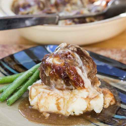 French Onion Stuffed Meatballs - (Free Recipe below)