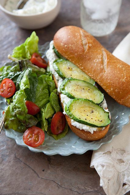 Roasted Zucchini and Ricotta Sandwich - (Free Recipe below)