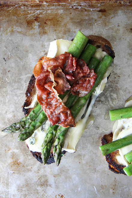 Asparagus, Crispy Prosciutto and Brie Grilled Cheese - (Free Recipe below)