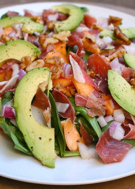 Prosciutto, Melon and Spinach Salad - (Free Recipe below)
