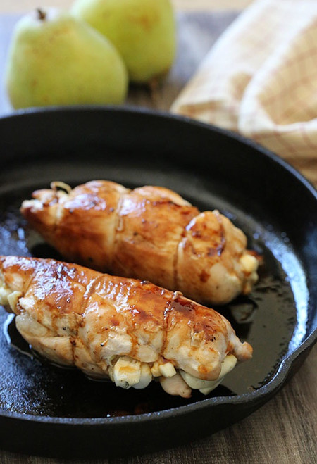 Stuffed Chicken Breast with Pears and Brie - (Free Recipe below)