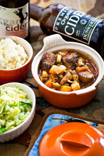 Sausage and Cider Stew, Hemsley & Hemsley: - (Free Recipe below)