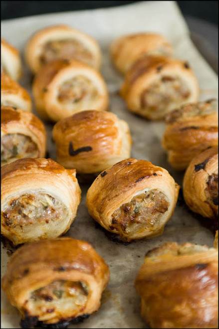 Sage, Onion and Sausage Rolls - (Free Recipe below)