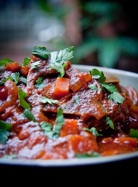 South African Tomato Stew Tamatie Bredie - (Free Recipe below)
