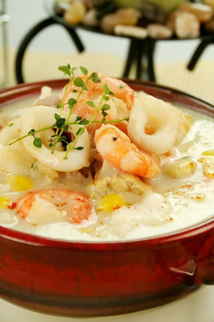 Seafood Chowder - (Free Recipe below)