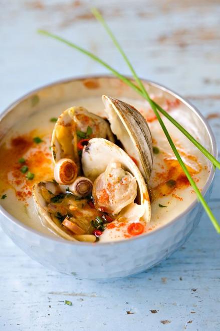 Thai Clam Chowder - (Free Recipe below)