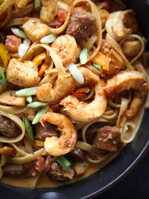Blackened Seafood Pasta - (Free Recipe below)