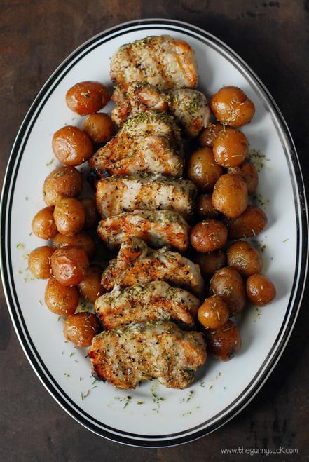 Garlic Rosemary Pork Tenderloin - (Free Recipe below)