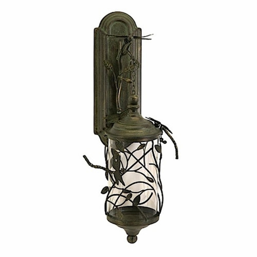 Dragonfly Candle Wall Lantern