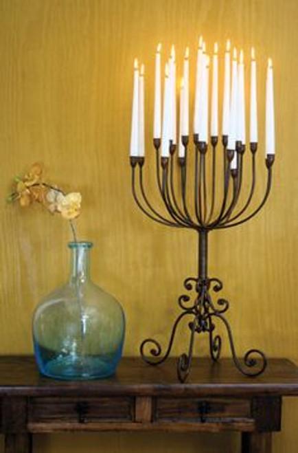 Elegant Giant Iron Table Candelabra - holds 20 Candles