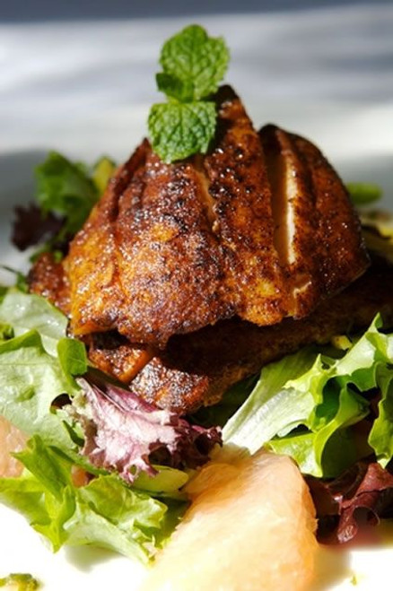 Blackened Swordfish with Mixed Spices and Grapefruit Salad - (Free Recipe below)
