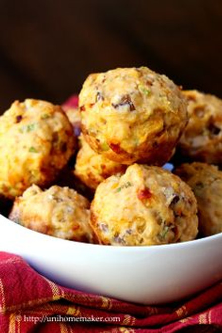 Garlic Chipotle Muffins with Scallions Cheddar & Bacon - One Dozen w/ Free Recipe