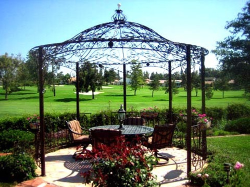 Custom Wrought Iron Gazebo - 10', 12' and other sizes