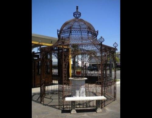 Wrought Iron Oriental Pagoda Gazebo - Custom Orders Accepted
