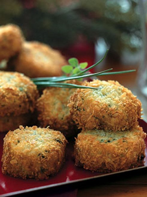 Fontina Risotto Cakes with Fresh Chives - (Free Recipe below)