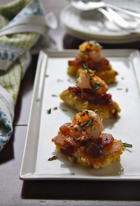 Shrimp and Grit Bites - (Free Recipe below)
