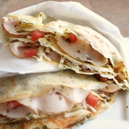 Turkey Pesto Crepes - (Free Recipe below)