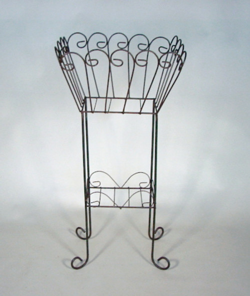 """Iron Scroll 38"""" Plant Stand"""
