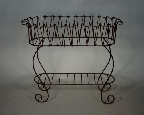 Long Curved Iron Planter