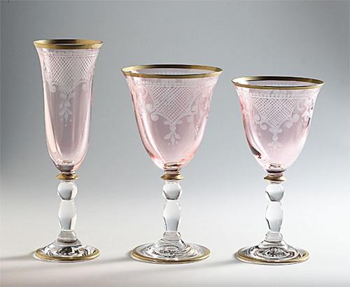 Grazia Rose Glasses Set of 4