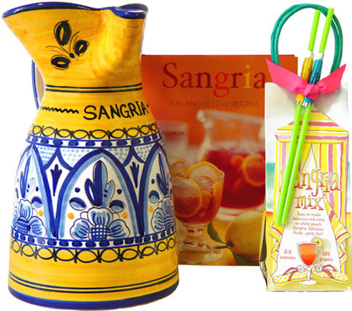 "Sangria Pitcher 9"" - many designs available"