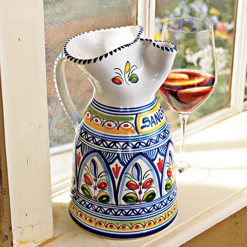 """Sangria Pitcher 9"""" - many designs available"""