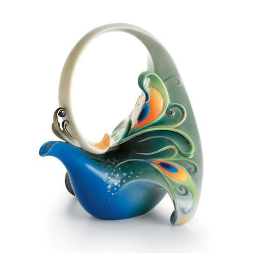 Franz Collection Luminescence Peacock Teapot