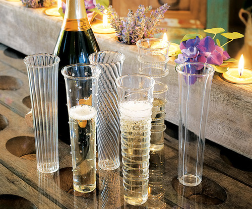 Venetian Style Champagne Flutes - Set of 6