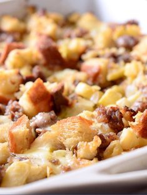 Sausage, Apple and Brie Stuffing - (Free Recipe below)