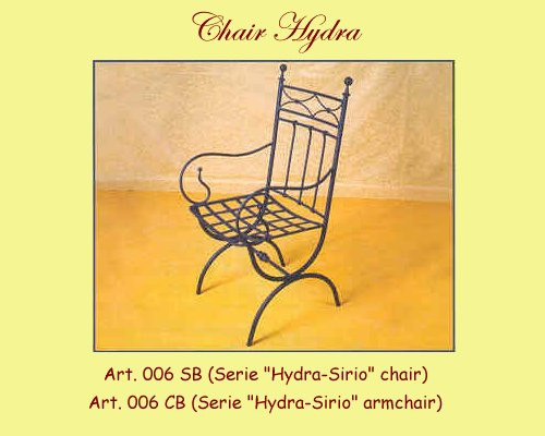 Hydra Wrought Iron Chair - w/ or without arms