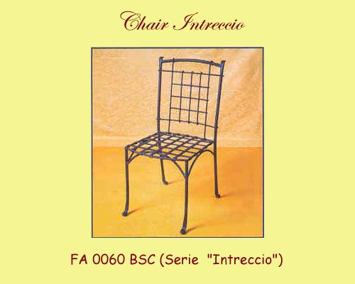 Intreccio Wrought Iron Chair - w/ or without Arms