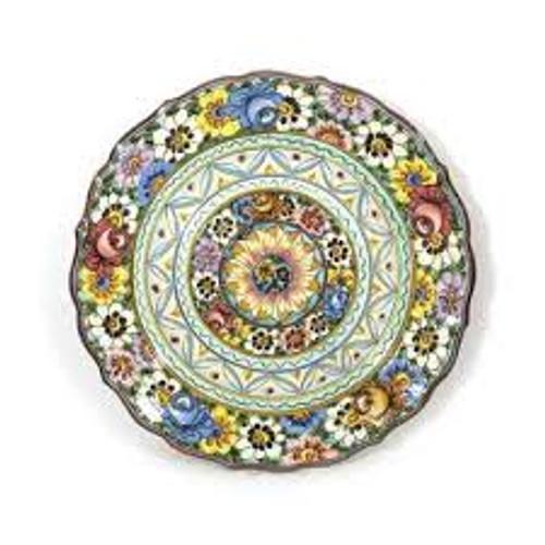 Vecchia Castelli Scalloped Platter & Wall Decor