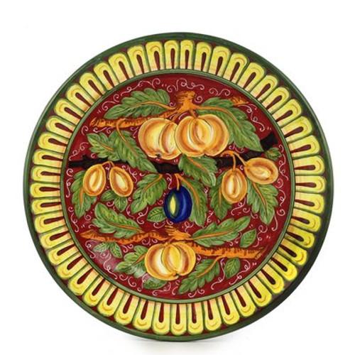 """Frutta Fonda Rossa Large 16"""" Wall Plate"""