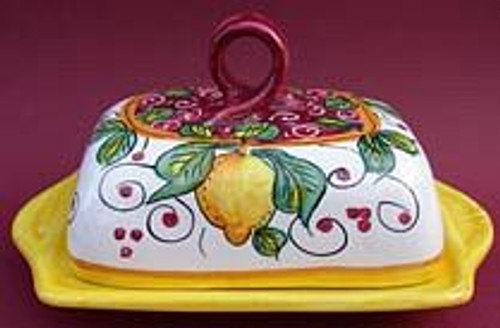 Italian Butter Dish - many designs, colors available