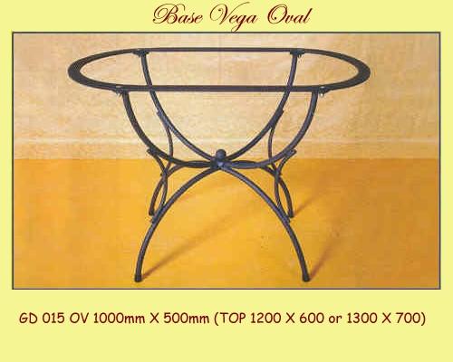 Vega Oval Wrought Iron Table Base - multiple sizes available