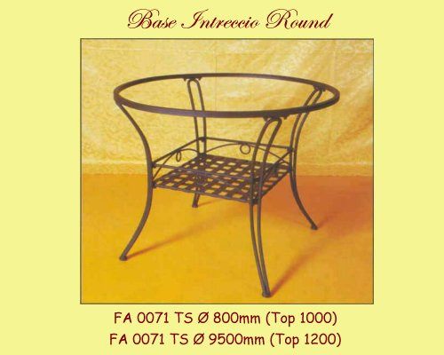 Intreccio Wrought Iron Table Base - multiple sizes available