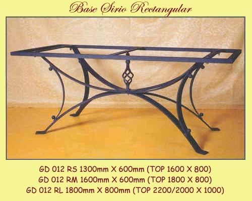 Sirio Rectangular Wrought Iron Table Base - multiple sizes available