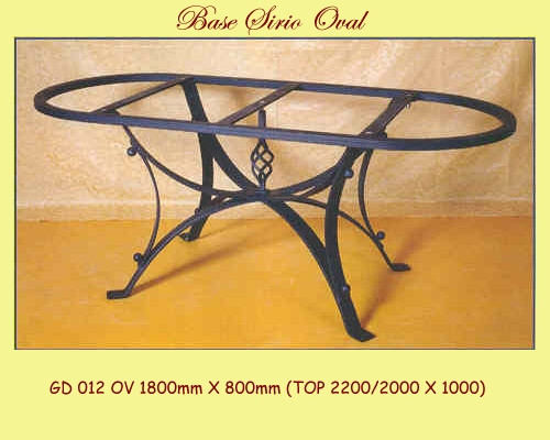 Sirio Oval Wrought Iron Table Base - multiple sizes available