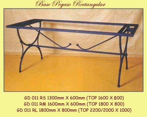 Pegaso Rectangular Wrought Iron Table Base - multiple sizes available